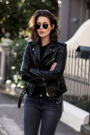 leather apparel justthedesign u201cleather jacket black jeans rimless sunnies this