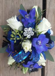 royal blue corsage becky s blossoms homecoming 2015
