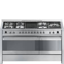 Smeg 110 Gloss Black Induction Cookers With Gas Hobs Smeg Uk