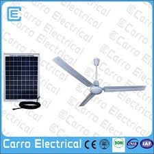 Solar Ceiling Fans foshan factory 22w ac dc doubel use dc ceiling fans solar powered