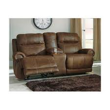 signature design by ashley austere reclining loveseat with console