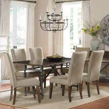 Overstock Dining Room Furniture with Ivy Park 7 Piece Weathered Honey Dinette Set Overstock Com