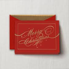 engraved ribbon engraved ribbon flourish merry christmas greeting card boxed
