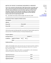 property offer letter templates 7 free word pdf format