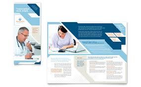 medical transcription tri fold brochure template word u0026 publisher