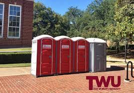 wedding porta potty restroom rental and wedding rentals for denton and