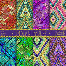Indian Style - indian digital paper indian papers