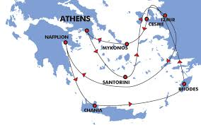 Santorini Greece Map by 7 Day Greek Island Cruise Euphoric Aegean Travel Zone
