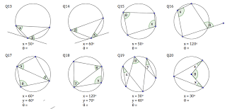 circle theorems worksheet solve my maths