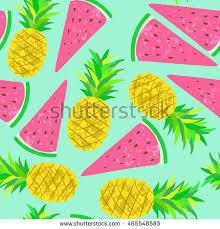 pineapple wrapping paper vector seamless pineapple watermelon decorative fruit stock vector
