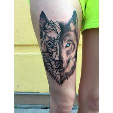 25 amazing geometric u0026 dotwork wolf tattoos wolf tattoos wolf