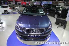 motor peugeot peugeot 408 e thp front at 2016 thai motor expo indian autos blog