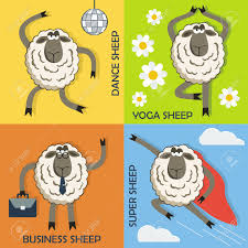 Super Concepts by Dance Sheep Yoga Sheep Business Sheep And Super Sheep Colorful
