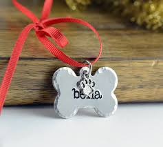 dog ornament dog bone ornament animal lover gift personalized
