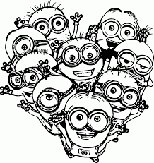 minions coloring pages childrens film free minion clipart cartoon