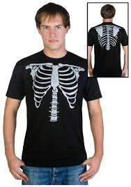 mens skeleton costume t shirt