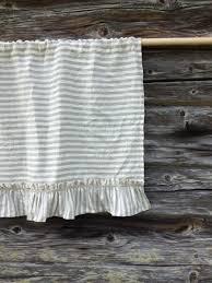 linen valance with ruffles striped linen curtain window