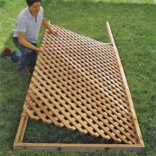 Wood Trellis Plans by How To Build A Trellis Lattice Fence Panels Lattice Fence And