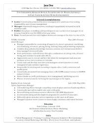 retail manager resume exles department manager resume retail department manager resume