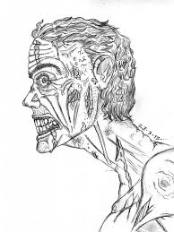 realistic zombie coloring pages coloringstar