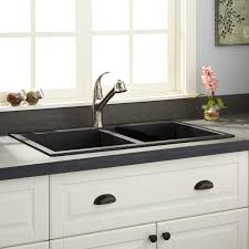 black granite composite sink 34 townsend double bowl drop in granite composite sink black
