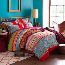 What Size Is King Size Duvet Cover Amazon Com Lelva Boho Style Bedding Set Bohemian Ethnic Style