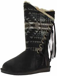 ebay womens boots size 12 bearpaw kathy s aztec fringe sheepskin winter boots size 12