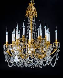 Crystal And Bronze Chandelier Superb Antique French Louis Xvi Style Gilt Bronze And Crystal