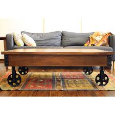 industrial square coffee table top diy factory cart coffee table shanty 2 chic in wheel plan the