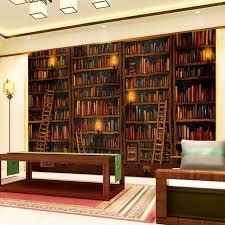 bibliothek wohnzimmer 3d tapete klassische bücherregal ölgemälde foto mural studie