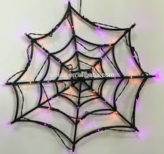 halloween spider web lights halloween battery operated light up spider web led lights 35led