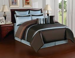 Blue And Brown Bed Sets More Ideas To Combine Brown Bedding Set Lostcoastshuttle Bedding Set