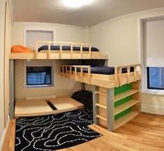 3 Way Bunk Bed Easy Built In Triple Bunk Bed Measurement And Plans Kids Bedroom