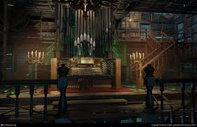 mcf escape from ravenhearst pipe organ room by ron crabb 3d