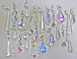 Glass Crystal Chandelier Drops Aurora Borealis Chandelier Drops Ab U0026 Clear Glass Crystals