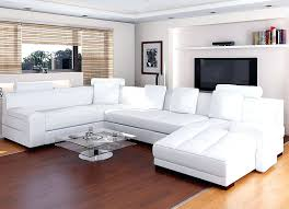 White Leather Sofa Sectional Living Room With White Leather Catosfera Net