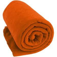 orange fleece throw blanket monogram available