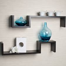 creative kitchen wall decor with two piece wooden floating wall