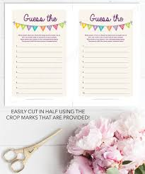guess the celebrity baby shower game gallery baby shower ideas
