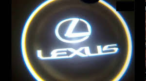 lexus is300 toyota emblem how to install lexus door welcome logo light youtube