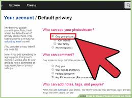 7 ways to make photos private on flickr wikihow