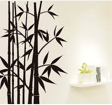 black bamboo wall mural on white painted wall together with white black bamboo wall mural on white painted wall together with white wall mount shelf