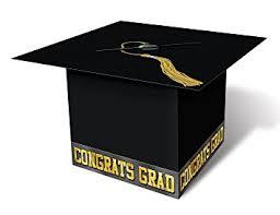 grad cap card box black party accessory 1 count 1