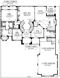 Stair Floor Plan Plan 89677ah Two Curved Staircases Staircases And House