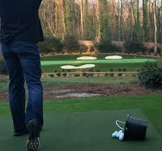 Backyard Golf Course by Nascar Star Kevin Harvick U0027s Replica Of Augusta National U0027s 12th