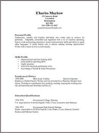 Sample Resume For Factory Worker by Easy Resume Templates Free Basic Resume Builder Free Resume