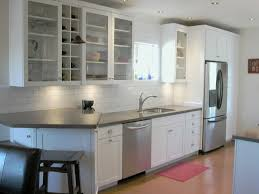 White Glass Kitchen Cabinets by Kitchen Cabinet Stylish Glass Kitchen Cabinet For Interior