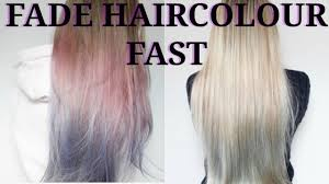 Washing Hair After Coloring At Home - how to fade l u0027oreal colorista hair colour fast youtube