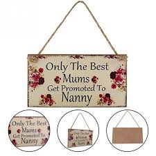 mothers day gift for nanny 1piece s day items wooden craft frame hanging wall plaque