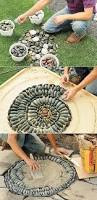 How To Make A Rock Patio by How To Make A Pebble Mosaic Mosaic Stepping Stones Mosaics And